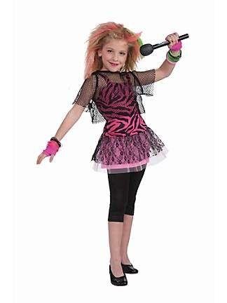 Child 80 S Punk Rock Star Girl Costume Rockstar Costume Punk Rocker Costume Girl Costumes