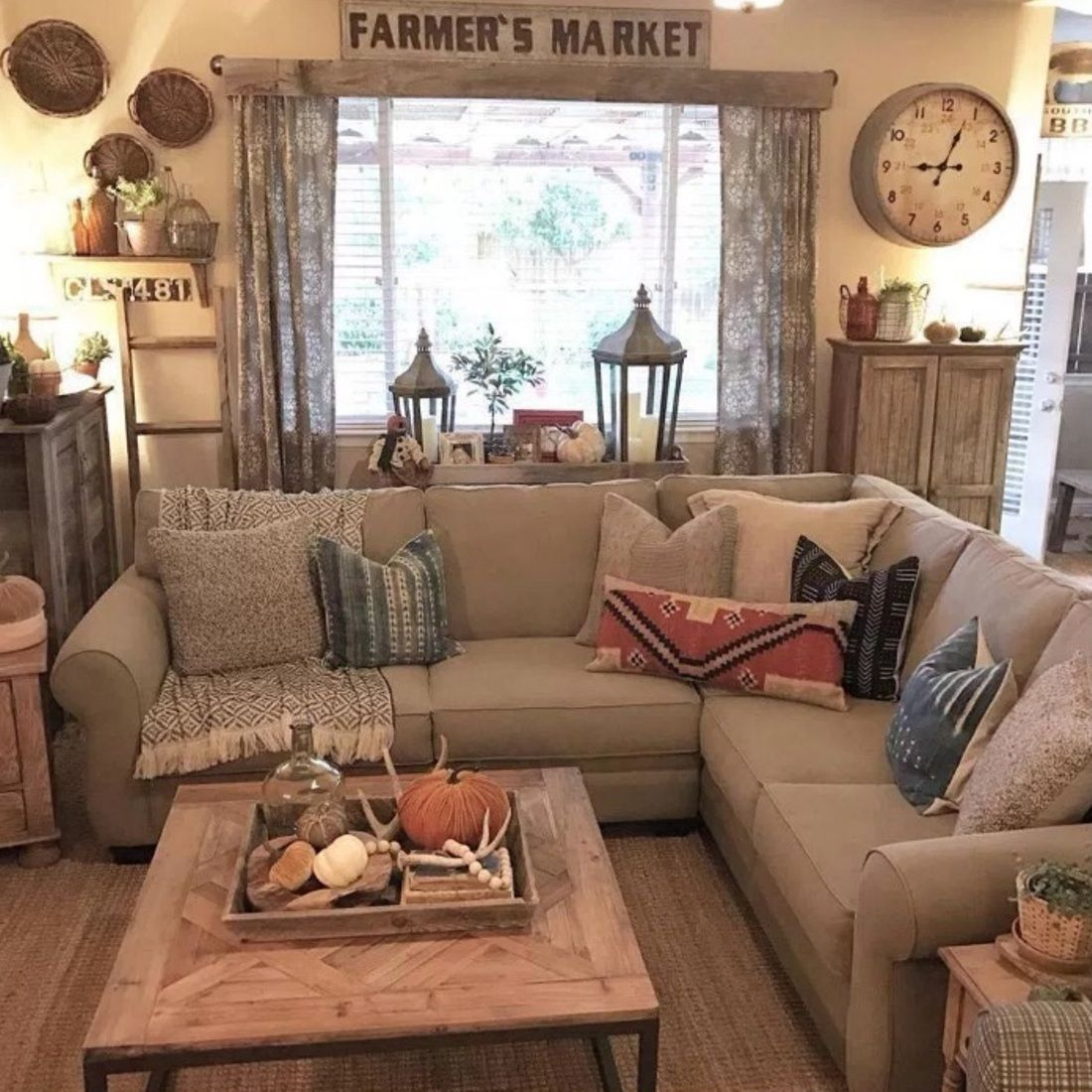 4 Simple Rustic Farmhouse Living Room Decor Ideas My Home D
