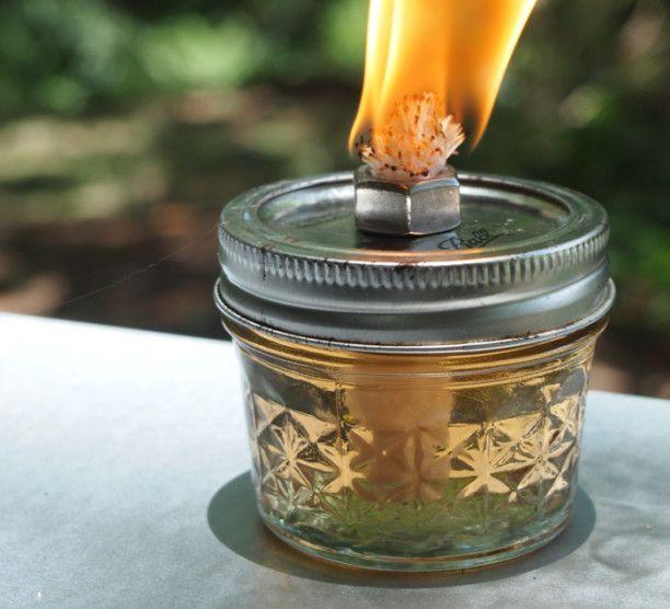 DIY MASON JAR OIL LAMP   The Spring. Citronella ...