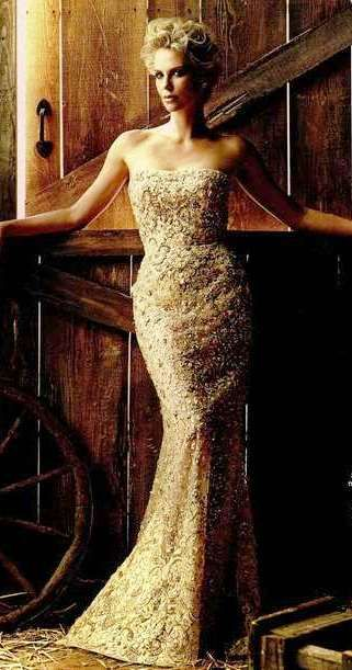 Charlize Theron in ELIE SAAB Haute Couture   InStyle Germany   editorial
