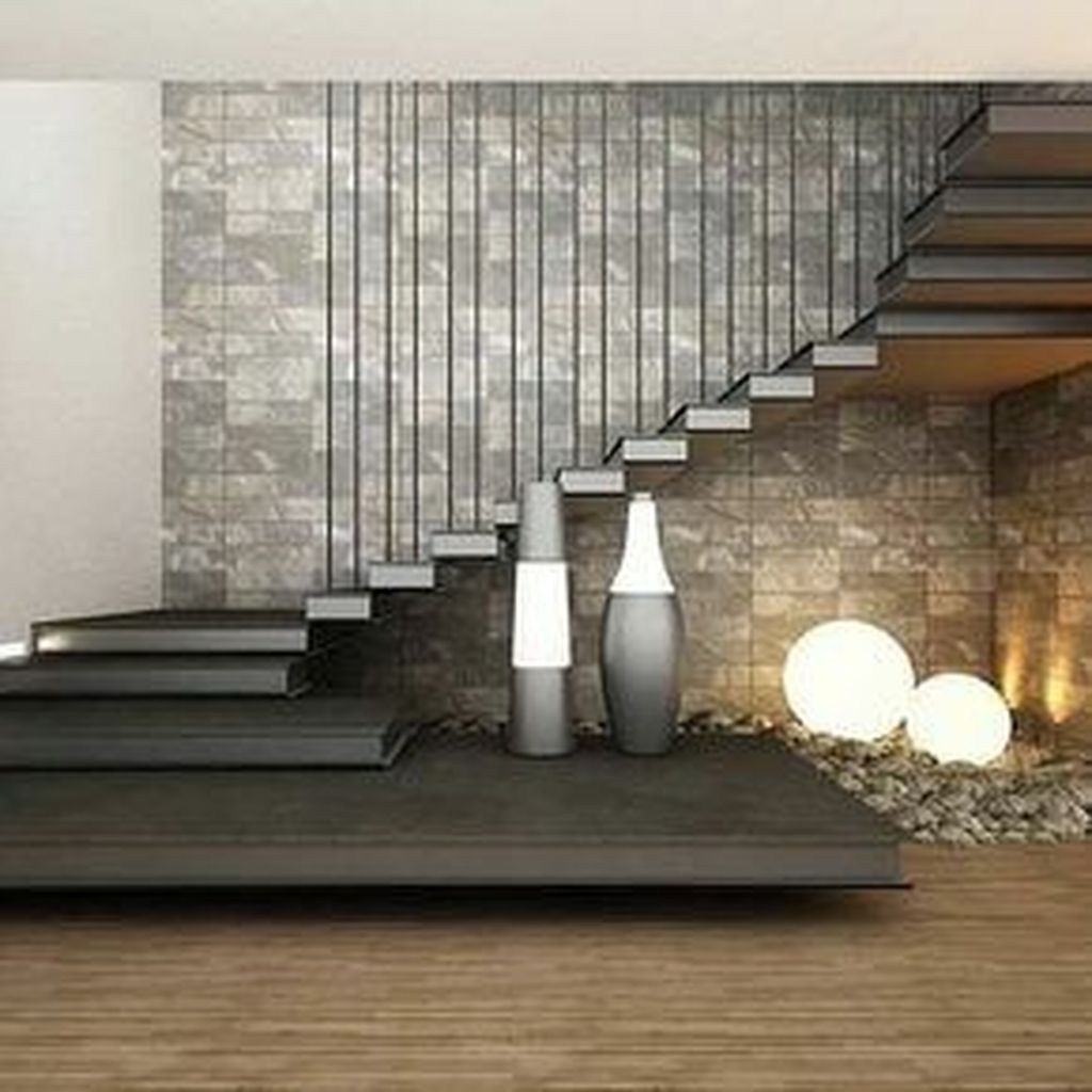 Best 36 Elegant Contemporary Living Room Stairs Style Ideas 640 x 480