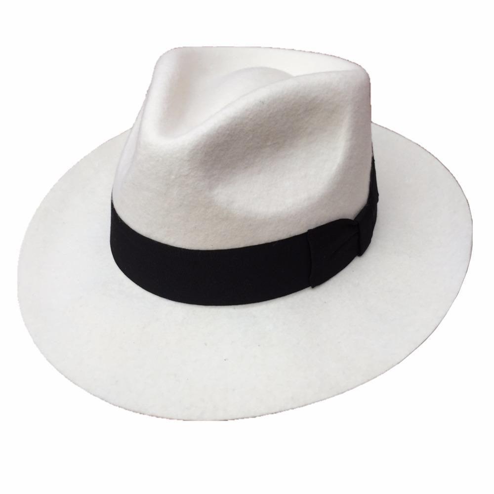 cf92a5941 Classic Men's White Wool Felt Godfather Fedora Hat | the men's ...