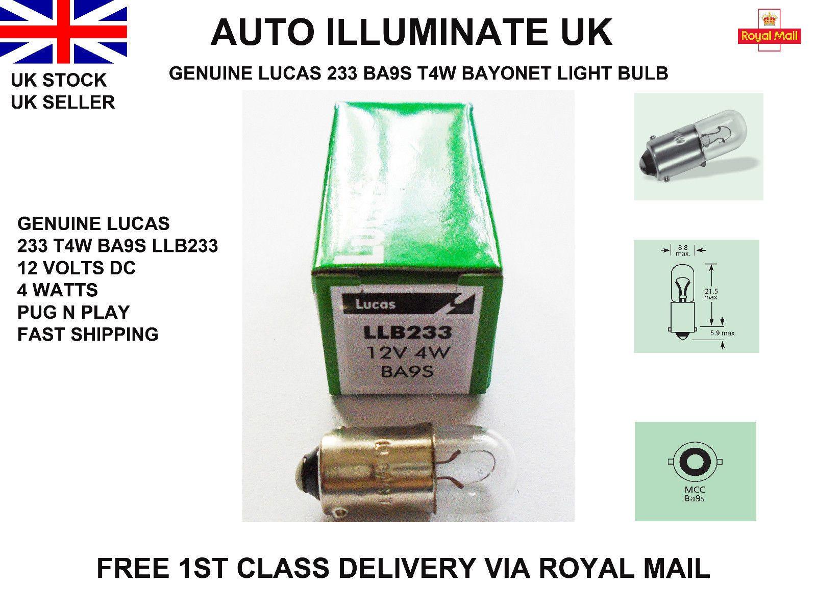 Lucas 233 Ba9s T4w Car Side Light Bulb Lamp Indicator Bayonet Llb233 Mcc 12v 4w Lighting Suppliers Light Bulb Lamp Bulb