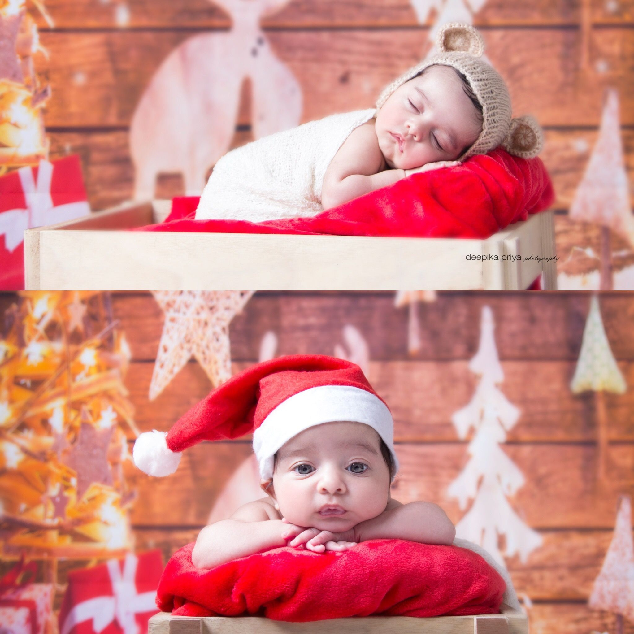 Newborn christmas set lights red newborn baby deepika priya photography deepika