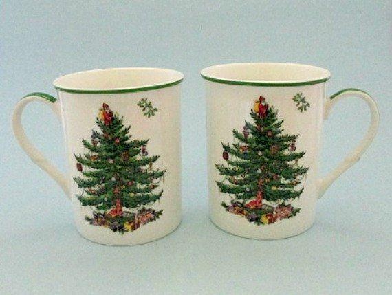 Spode Christmas Tree Mug with Coasters Products Pinterest