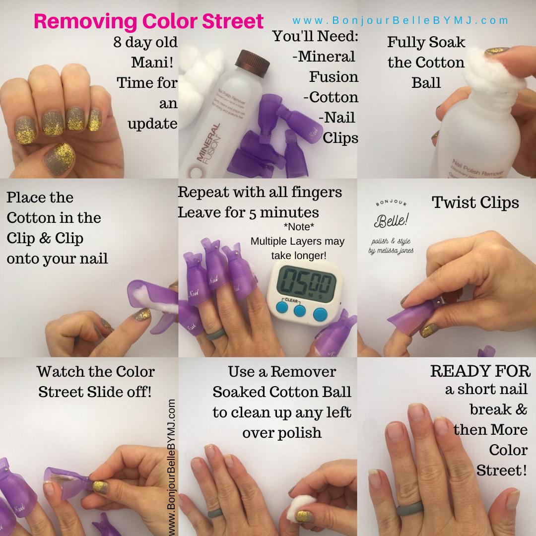 Removing Color Street Color Street Nails Color Street Color