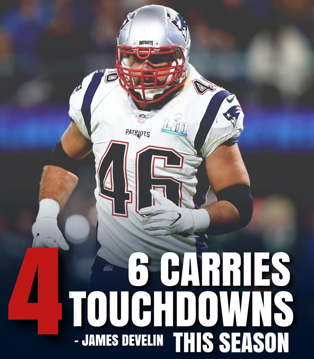 1 214 Likes 8 Comments New England Patriots Patriots United On Instagram James Develin Is A Touchdown Ma New England Patriots England Patriots Patriots