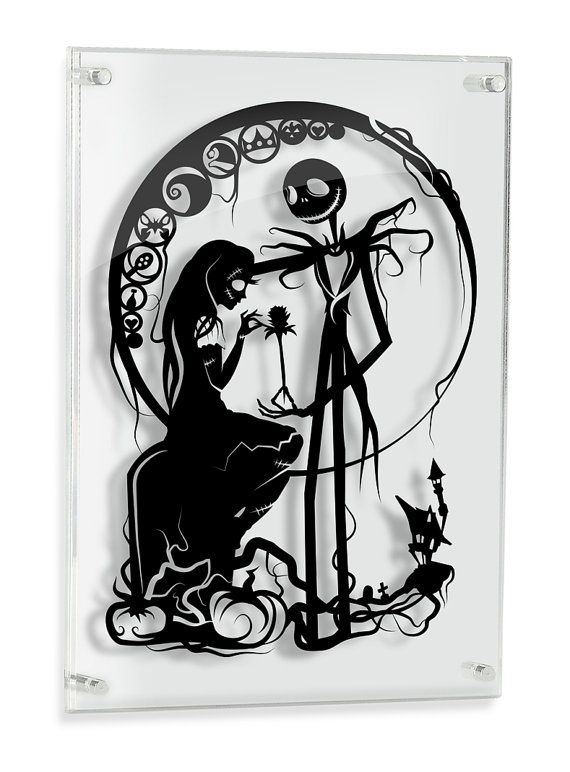Nightmare Before Christmas Jack Skellington and Sally // silhouette ...