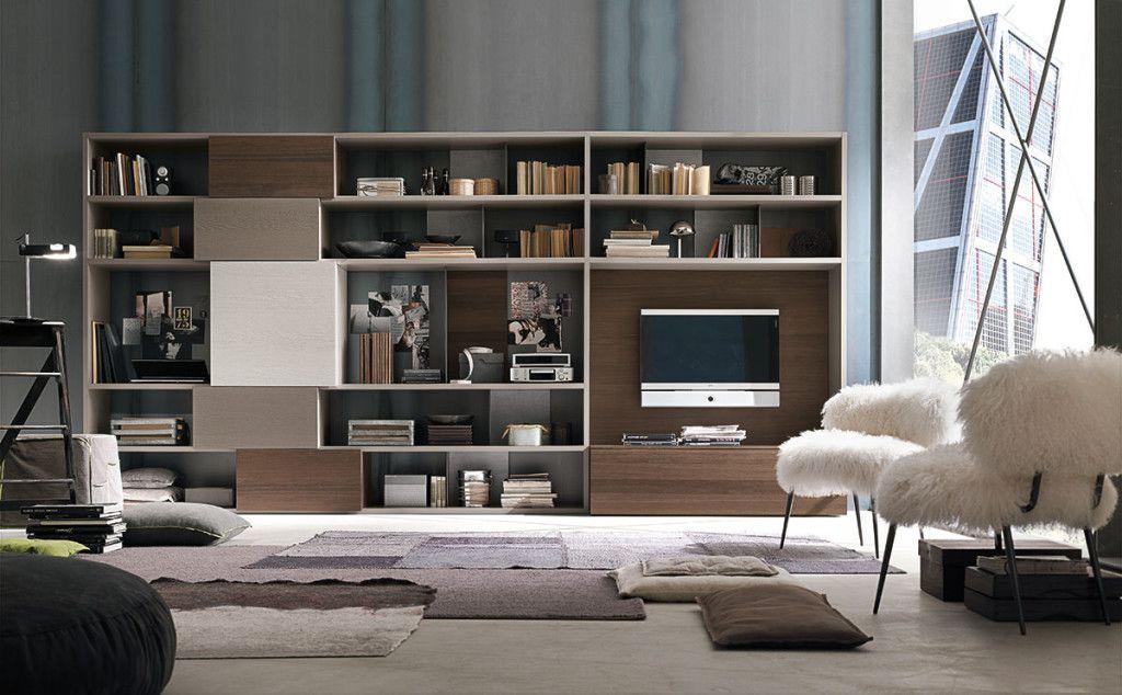 Composizione c150 parete attrezzata per il soggiorno for Composizione soggiorno moderno