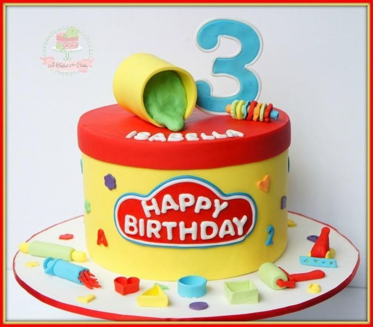 Magnificent Playdoh Cake By Jo Finlayson Jo Takes The Cake With Images Personalised Birthday Cards Veneteletsinfo