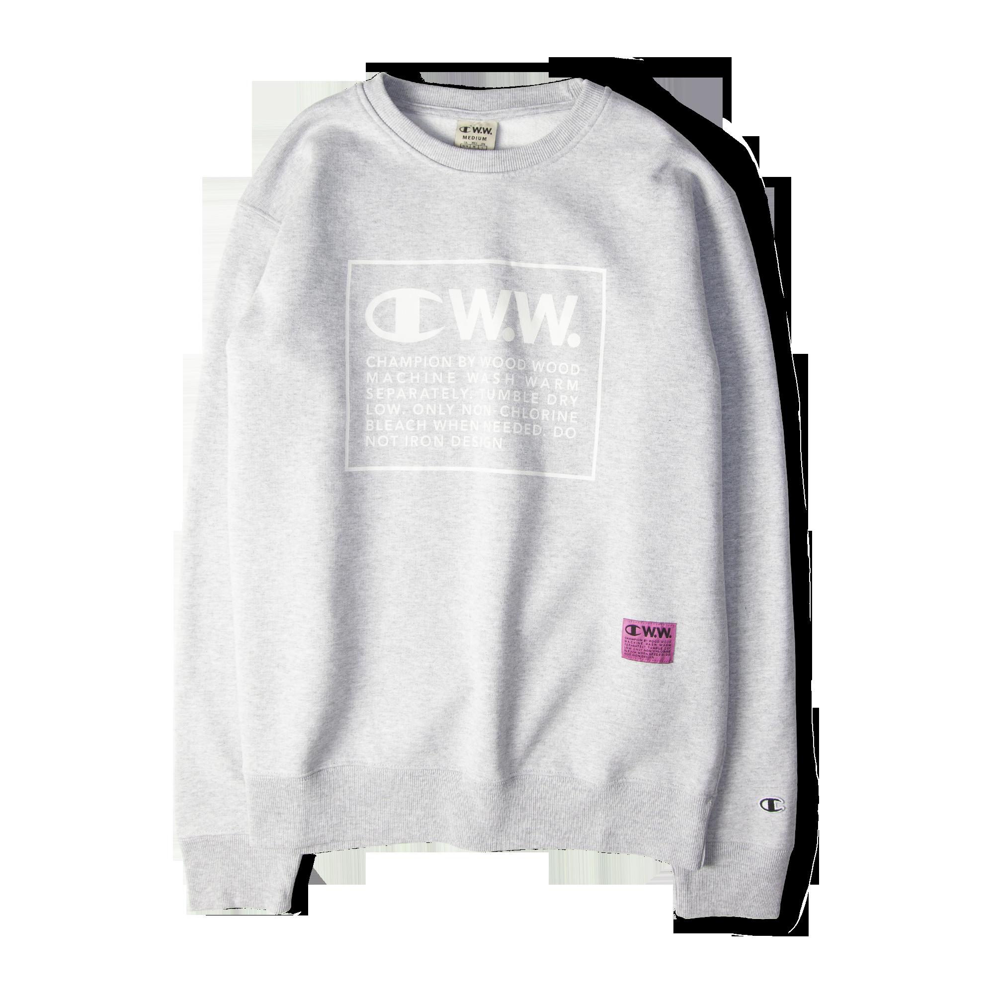 b723a320d354 Champion X Wood Wood Box Logo Crewneck Sweatshirt Grey Free SHIPPING OVER  £50.00 #grants #1856 #grants1856