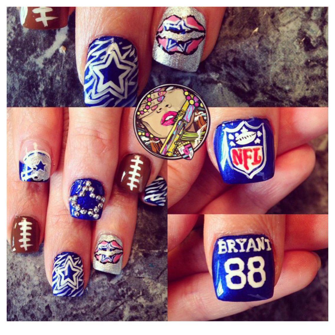 Dallas Cowboys Nails | Vrambo Nails | Pinterest | Dallas cowboys ...