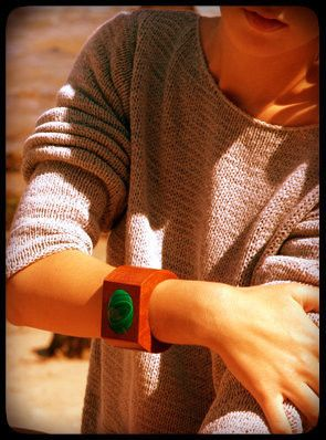 Malachite Eye Cuff by @SophieMonet available at DNA (the shop)