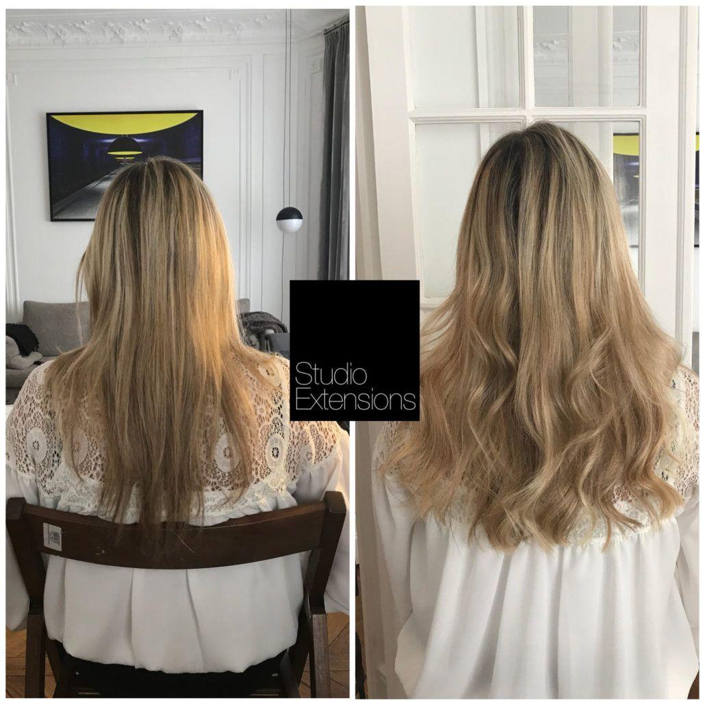 Exemple De Pose D Extensions Pour Cheveux Fins Coiffure Cheveux Fins Changer De Coiffure Cheveux Fins
