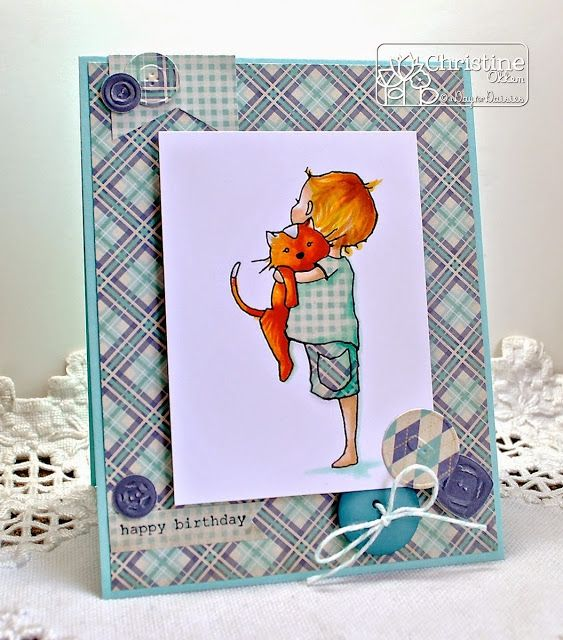 Copic red hair, pieced clothes - ChristineCreations