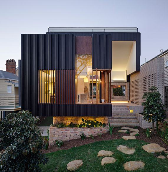 Residential Architects Brisbane Highgate Hill House ~ Cox Rayner Architects  Twofold Studios