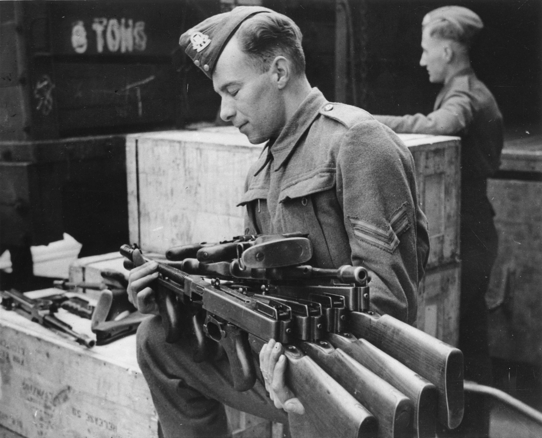 Brand-new Model 1928 Thompson submachine guns sent to the
