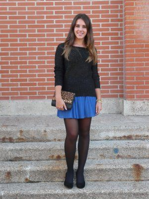 Outfit Azul Negro quierounblogdemoda Estampado Blanco Leopardo Maria qYwt5ng5