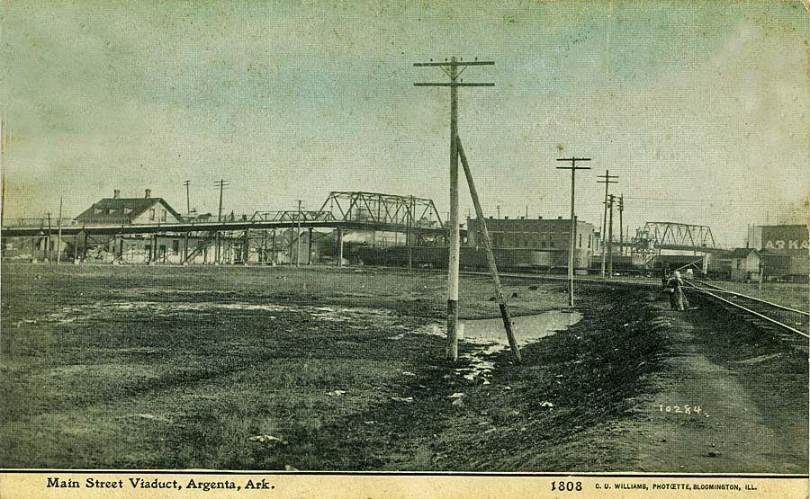 arkansas history   Argenta and Little Rock Railroad Scenes on Postcards