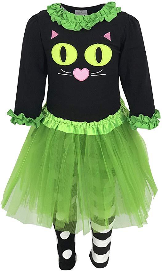 Unique Baby Girls Halloween Cat Costume with