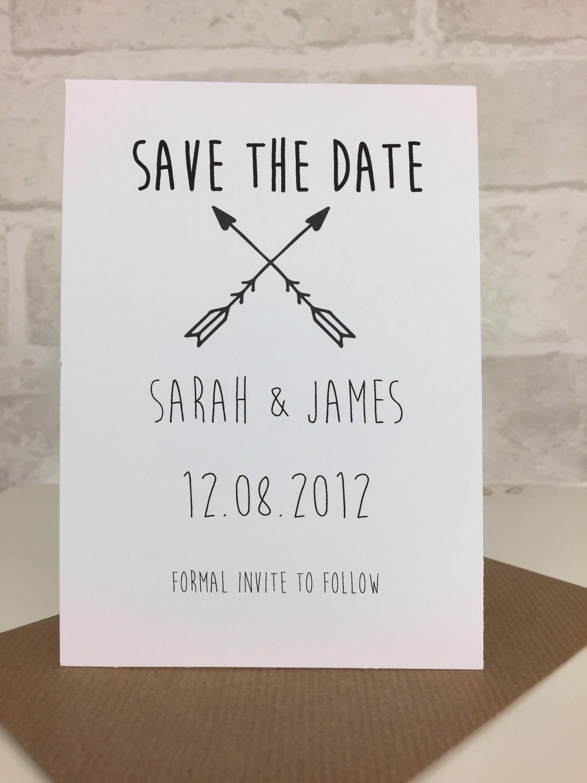 Rustic Save The Date Postcard Wedding Invitation Wedding Save The