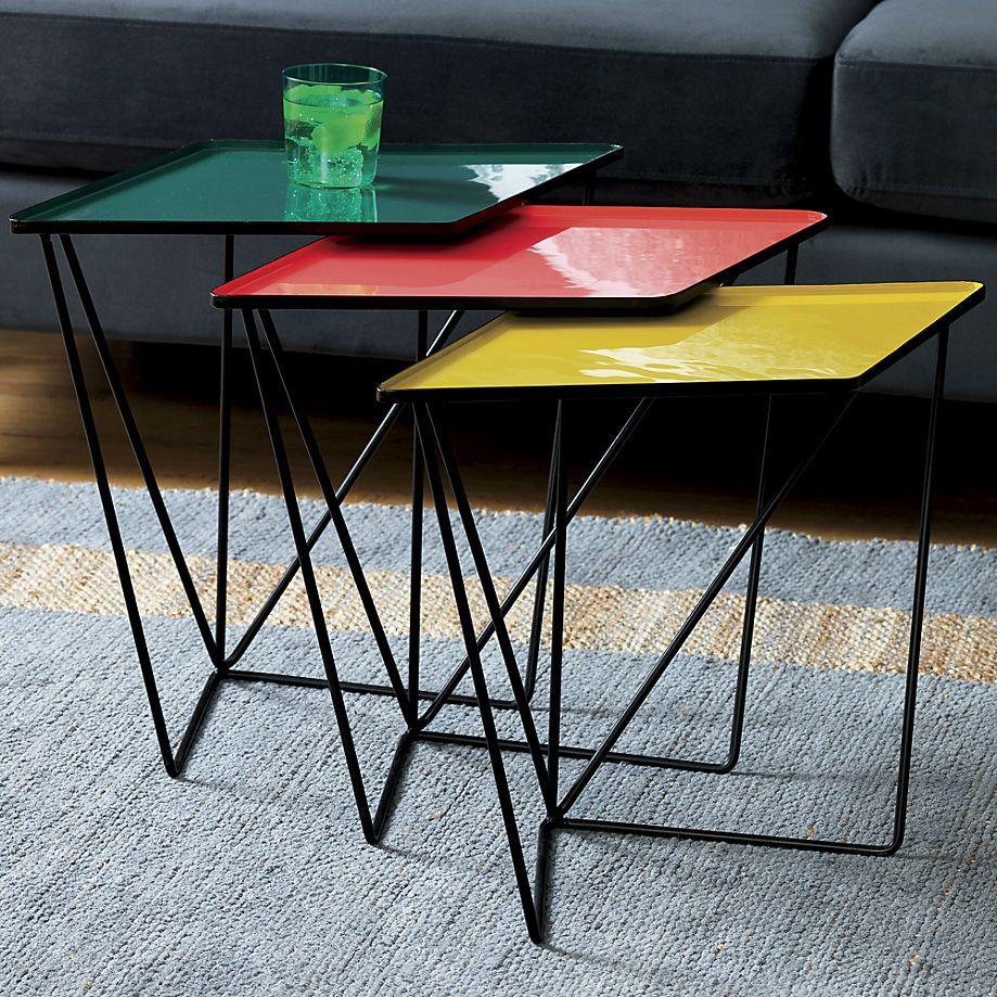 SAIC paradox nesting tables set of 4  Nesting tables, Modern side