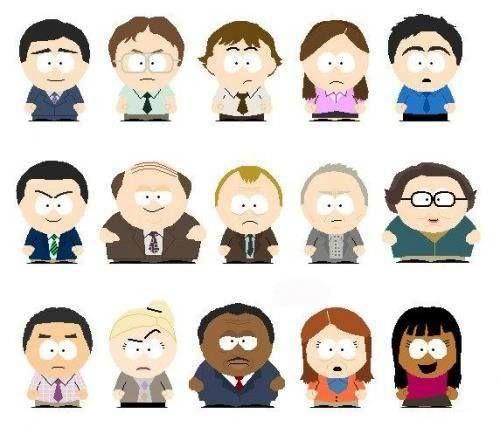 South Park styled Office characters The office