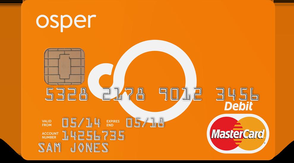 A debit card for children order an Osper Card today