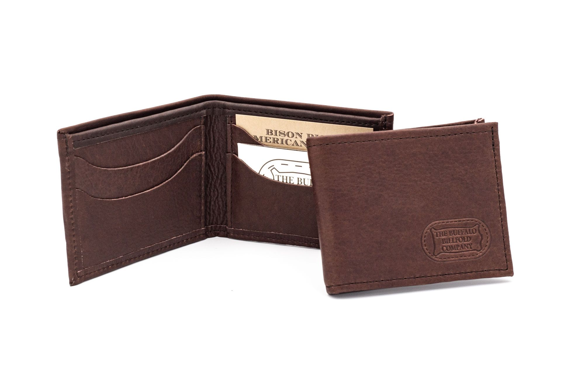 Buffalo Billfold Mens Leather Bifold Made In Usa Buffalo Leather Wallet Mens Handmade Leather Wallet Wallets For Women Leather