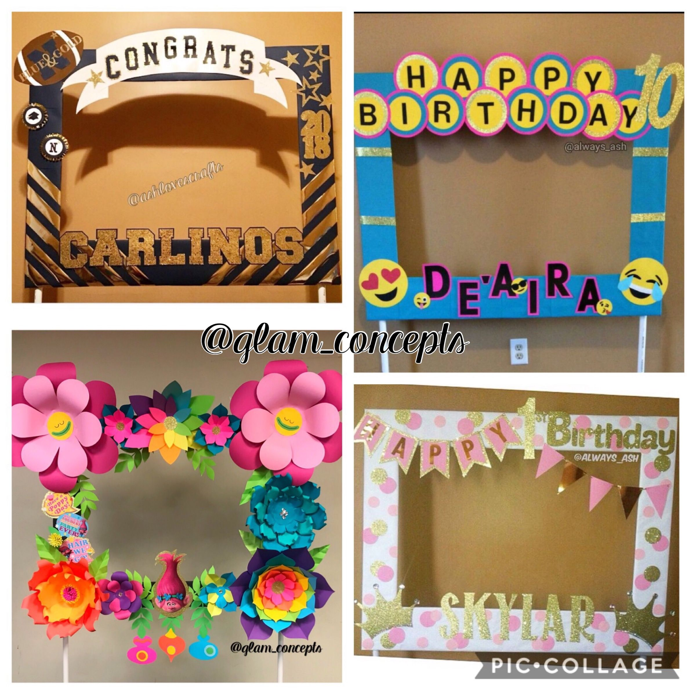 Photo Booth Frames Selfie Frame Party Photo Frame Photo