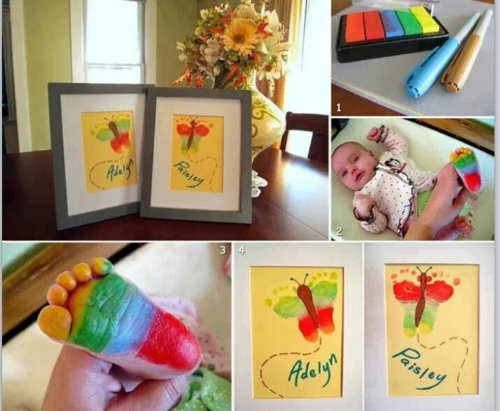 Newborn footprint.rainbow butterfly xx