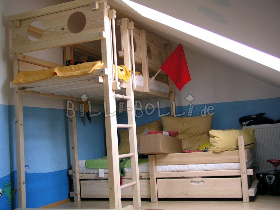 etagenbett ber eck billibolli kinderzimmer. Black Bedroom Furniture Sets. Home Design Ideas