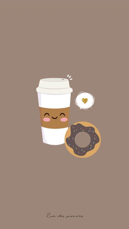 Coffe time morning something di 2019 cute cartoon - Cute coffee wallpaper ...