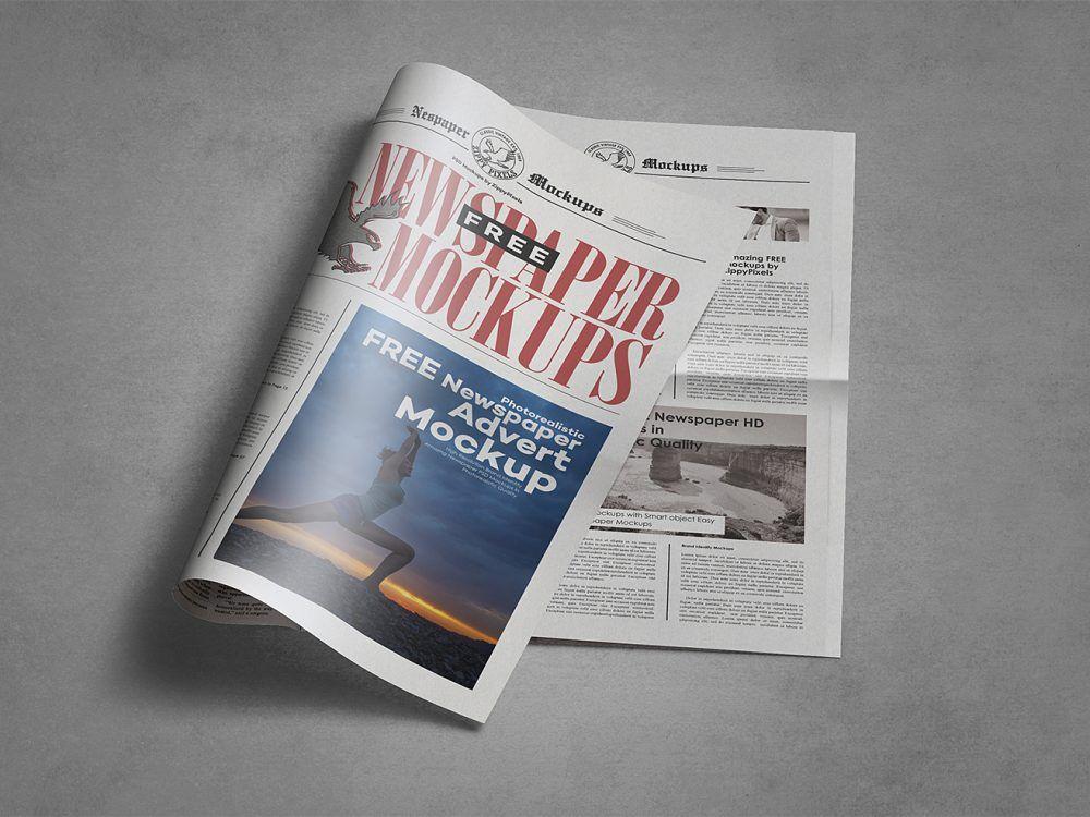 Free Newspaper Mockup Free Mockup Tabloid Newspapers Free Mockup Mockup Free Psd