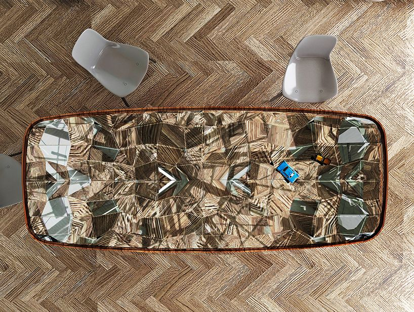 http://www.designboom.com/design/andre-teoman-kaleidoscope-table-04-23-2015/ andré teoman studio conceptualizes mirrored kaleidoscope table