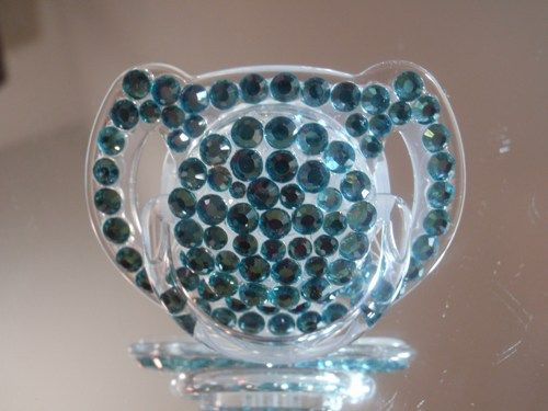 Bling Pacifier BABY Crystallized Pacifier Souvenir Infant 6-12 months keepsake http://www.fashionblings.com