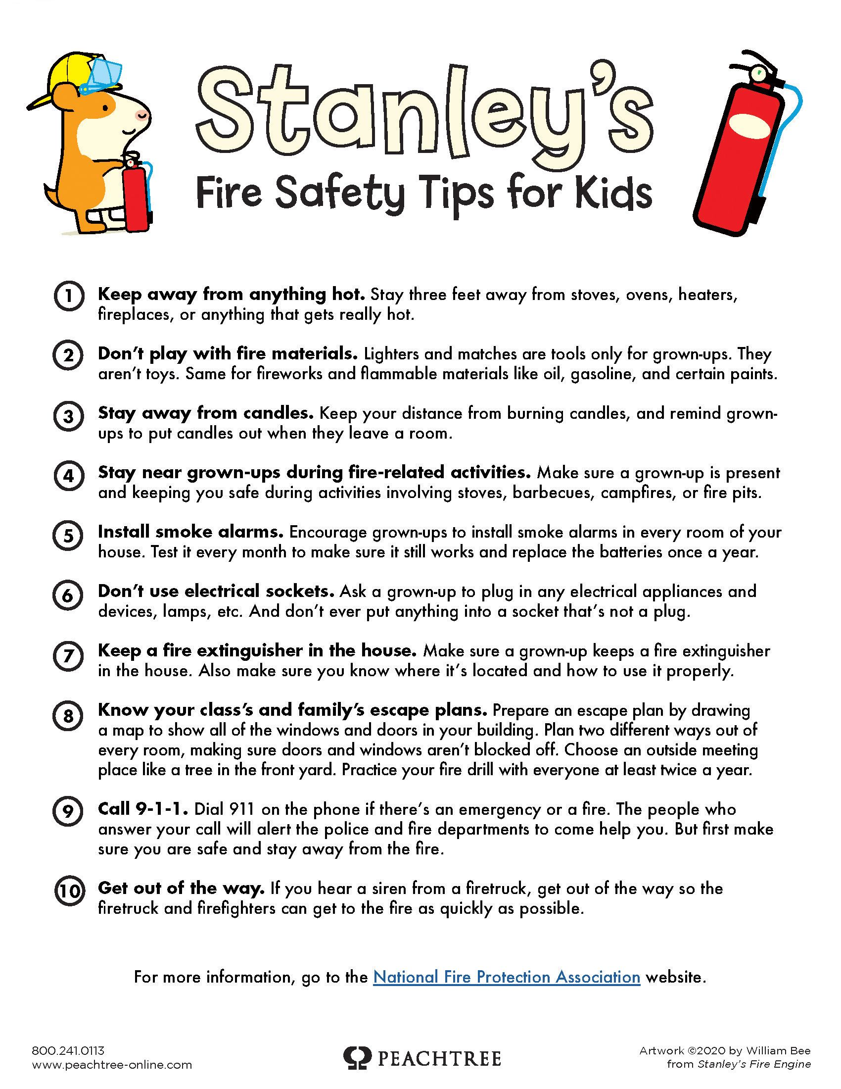 Stanley S Fire Safety Tips Fire Safety For Kids Fire Safety Tips Fire Safety Education
