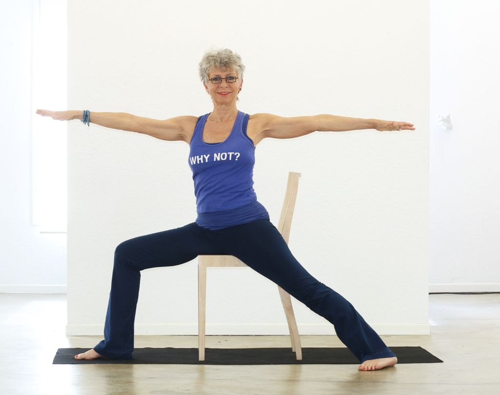 Image result for warrior 2 chair chair yoga yoga poses