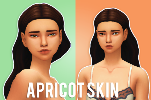 """simcism: """" APRICOT SKIN - 1000 FOLLOWERS GIFT PART ONE """"The"""