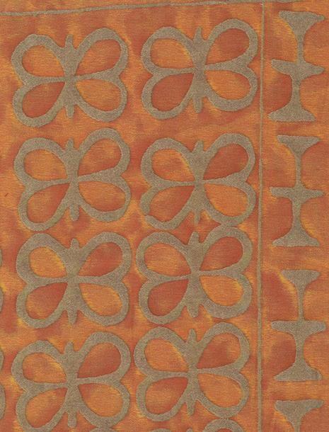 Ashanti in burnt apricot & silvery gold #fortuny: http://fortuny.com/Fabrics.aspx#3fd3b52c-262b-4307-ba53-58b53bd145cb  Follow Fortuny on Pinterest! pinterest.com/fortuny