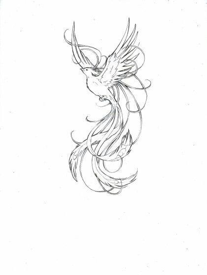 feminine phoenix tattoos phoenix feminine and delicate. Black Bedroom Furniture Sets. Home Design Ideas