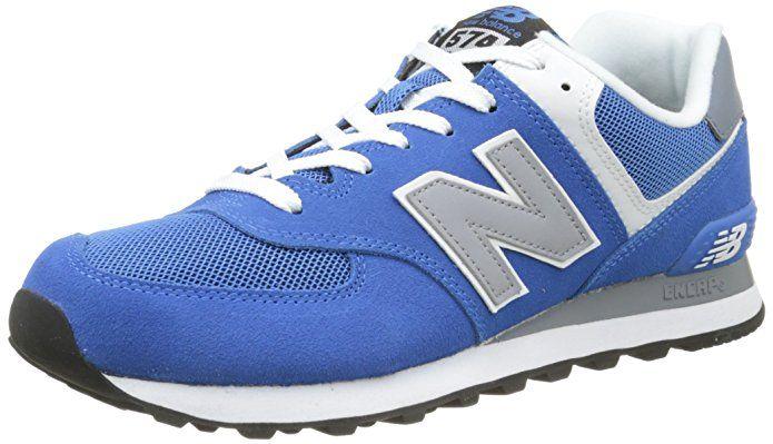 competitive price df29f 71e72 New Balance Men's ML574 Core Plus Running Shoe, Blue/Grey, 8 ...