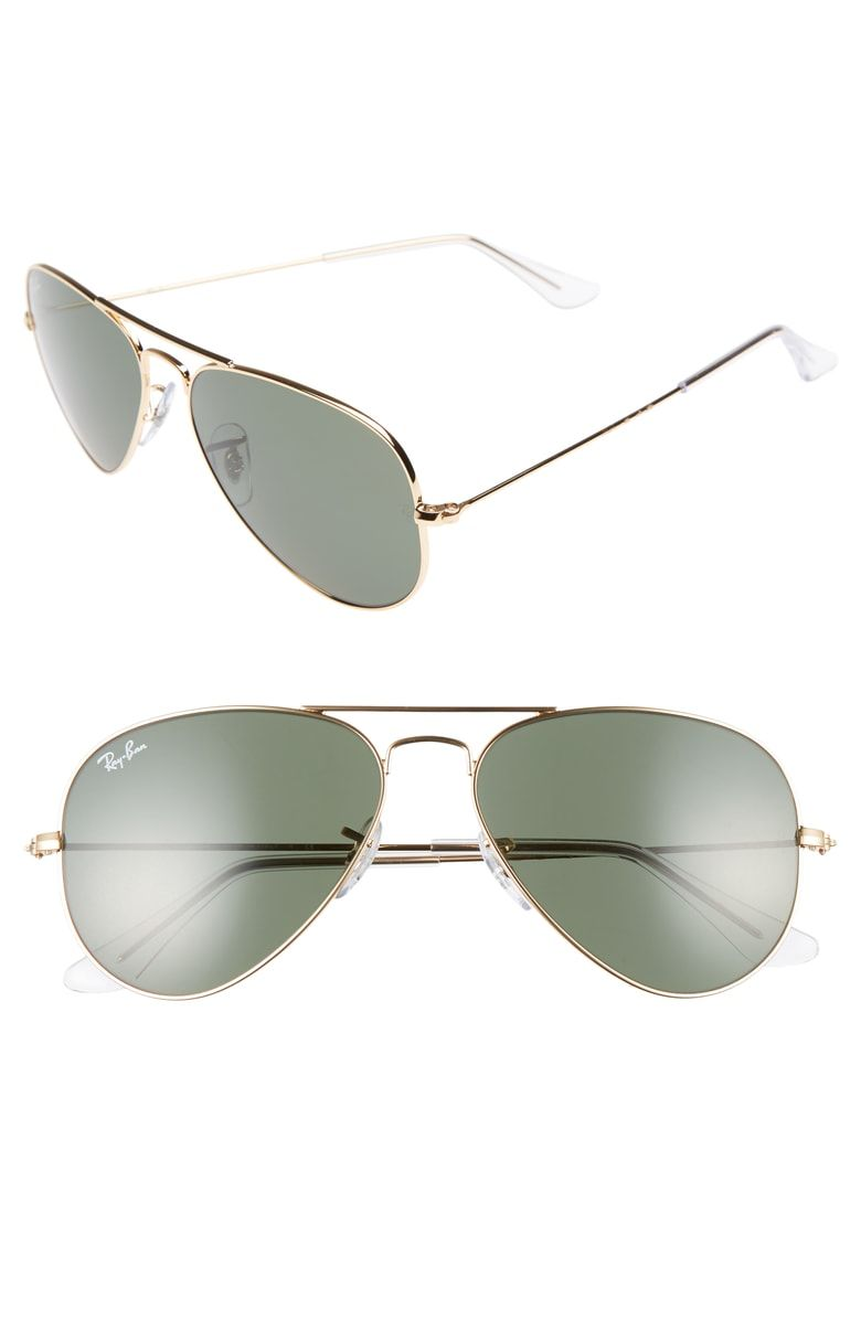 be7e7d1c85 Free shipping and returns on Ray-Ban Small Original 55mm Aviator Sunglasses  at Nordstrom.com. Sleek metal aviator sunglasses with slender temples  feature ...