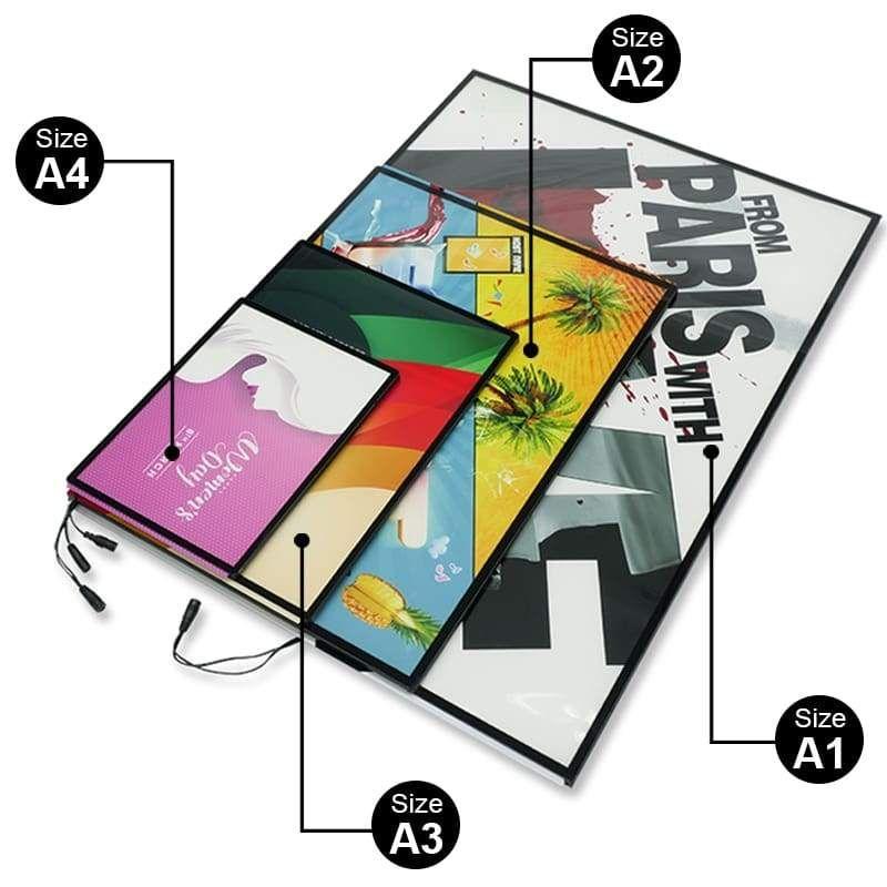 A1a2a3a4 advertising led aluminium led menu panel light