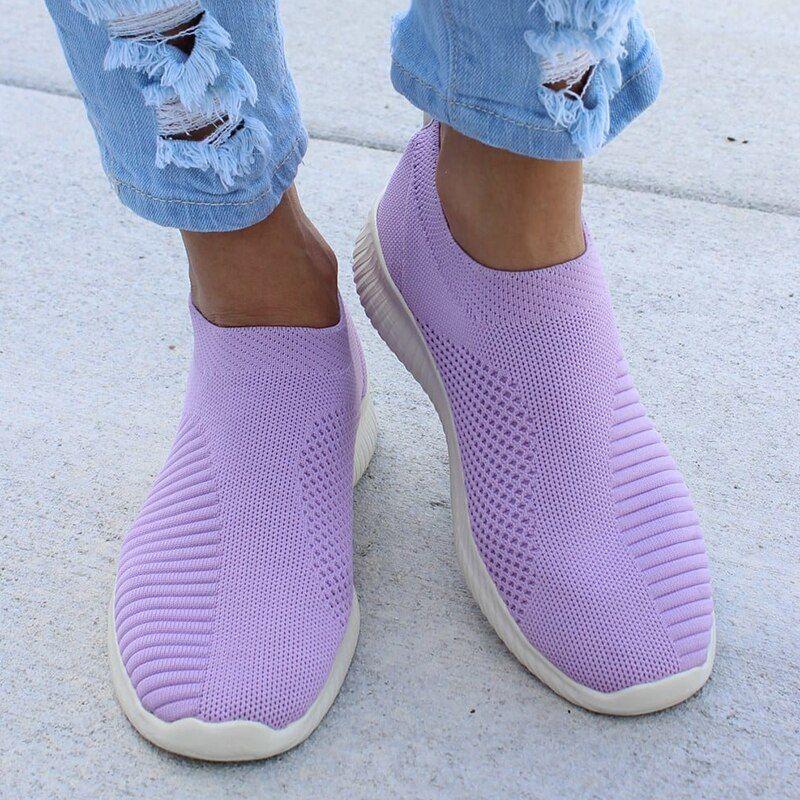 fabric sock trainers ladies