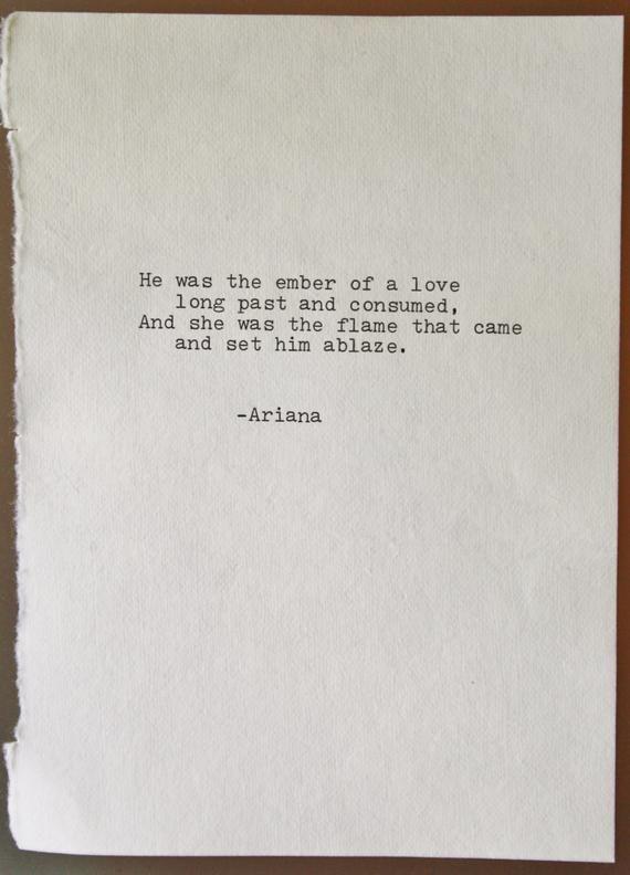 poem love poetry original art typography typographic print | Etsy
