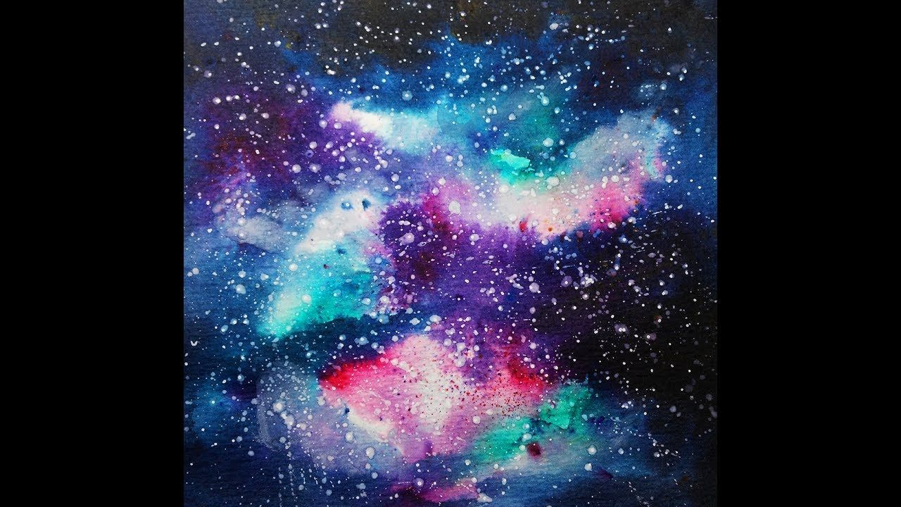 Brusho Galaxy Painting Tutorial Instagram Video Galaxy Painting Watercolor Galaxy Painting Tutorial