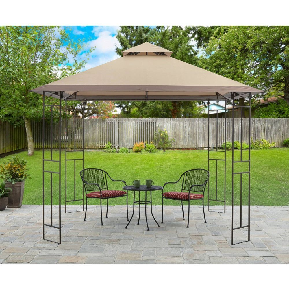 Patio Gazebo Bbq Tent Garden Furniture Steel Frame Outdoor Party Canopy 10 x 10  sc 1 st  Pinterest & Patio Gazebo Bbq Tent Garden Furniture Steel Frame Outdoor Party ...