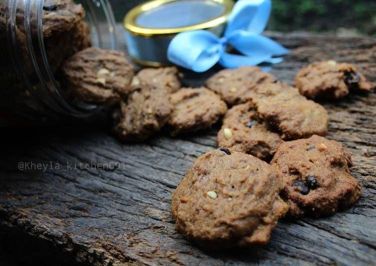 Resep Choco Chip Cookies With Palm Sugar Ala Good Time An Oleh Kheyla S Kitchen Resep Makanan Dan Minuman Makanan Kue Kering