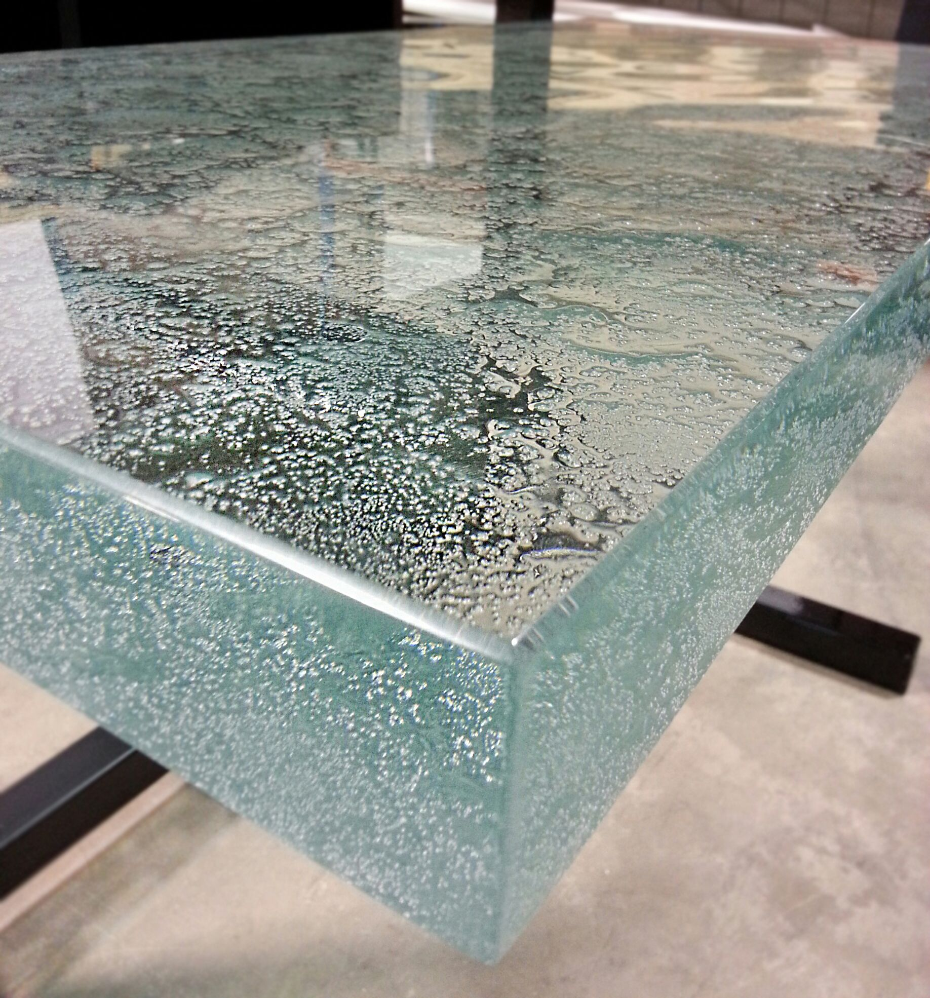 This 2 Ultra Clear Glass Countertop Is Cast With Our New Geode